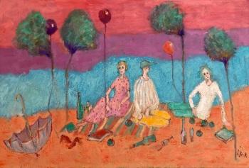 Oil on canvas  • 80x50cms • £1850